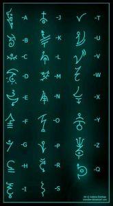 глиф алфавит