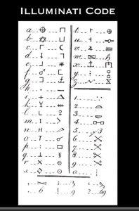 алфавит иллюминатов